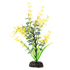 Top Fin® Green and Yellow Flower Aquarium Plant