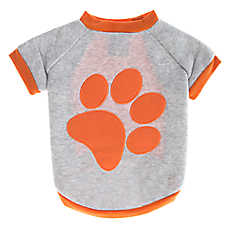 Grreat Choice® Paw Chenille Applique Fleece Dog Tee
