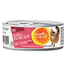 Good Natured™ Cat Food - Natural, Salmon & Vegetables, Pate