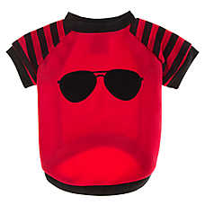 Grreat Choice® Sunglass Applique Fleece Dog Tee