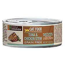 Simply Nourish™ Cat Food - Natural, Grain Free, Tuna & Chicken Stew