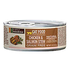 Simply Nourish ™ Cat Food - Natural, Grain Free, Chicken & Salmon Stew