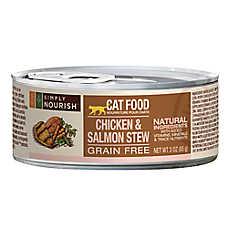 Simply Nourish ™ Cat Food - Natural, Grain Free, Chicken & Salmon Stew