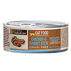 Simply Nourish™ Cat Food - Natural, Grain Free, Chicken & Rabbit Stew