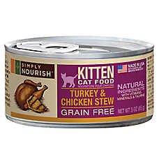 Simply Nourish™ Kitten Food - Natural, Grain Free, Turkey & Chicken