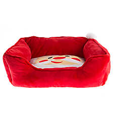 Pet Holiday™ Santa Cuddler Dog Bed