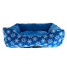 Pet Holiday™ Snow Flake Cuddler Dog Bed