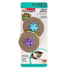Petstages® Spin & Scratch Disk Cat Toy