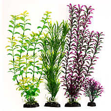 Top Fin® Dark Green and Purple Aquarium Plant Value Pack