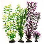 Top Fin® Dark Green and Purple Aquarium Plant Value Pack