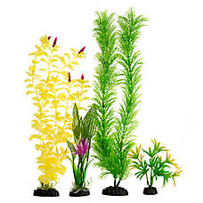 Top Fin® Green and Yellow Flower Aquarium Plant Value Pack