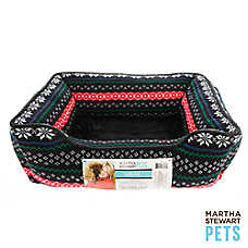 Martha Stewart Pets® Holiday Fairisle Cuddler Dog Bed