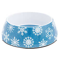 Top Paw® Holiday Snowflake Dog Bowl