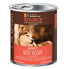 Simply Nourish™ SOURCE Adult Dog Food - Grain Free, High Protein, Beef