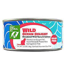 Only Natural Pet Cat Food - Natual, Grain Free, Ocean Delight Tuna & Salmon