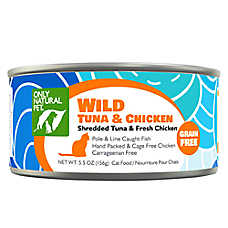 Only Natural Pet Cat Food - Natual, Grain Free, Wild Tuna & Chicken