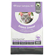 Only Natural Pet Feline PowerFood Cat Food- Natural, Grain Free, Rabbit Dinner