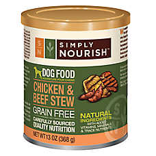 Simply Nourish™ Dog Food - Natural, Grain Free, Chicken & Beef Stew