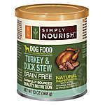 Simply Nourish™ Dog Food - Natural, Grain Free, Turkey & Duck Stew