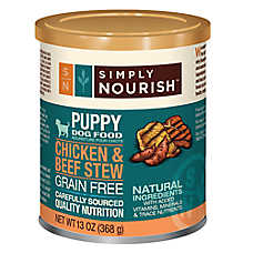 Simply Nourish™ Puppy Food - Natural, Grain Free, Chicken & Beef Stew