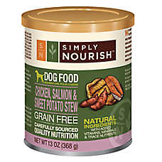 Simply Nourish™ Dog Food - Natural, Grain Free, Chicken, Salmon & Sweet Potato Stew
