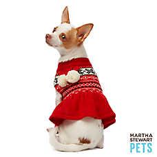 Martha Stewart Pets® Holiday Scarf Sweater Dress