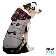 Martha Stewart Pets® Holiday Plaid Puffer Hoodie