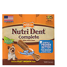 Nylabone® NutriDent Complete Mini Dental Dog Chews - Natural, Filet Mignon
