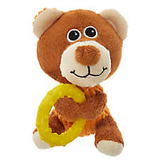 "Puppies""R""Us™ Toy Holding Teether Plush Dog Toy(COLOR VARIES)"