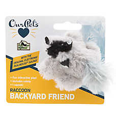 OurPets® Backyard Raccoon Cat Toy