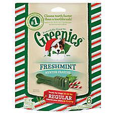 GREENIES® Seasonal Regular Dental Dog Treat - Freshmint