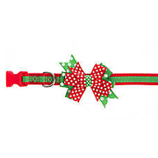 Pet Holiday™ Ruffled Bow Dog Collar