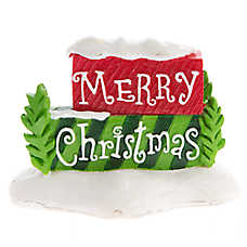 Top Fin® Pet Holiday Christmas Sign Aquarium Ornament