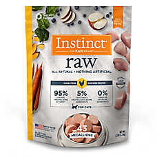 Nature's Variety® Instinct® Raw Medallions Cat Food - Natural, Grain Free, Frozen Raw, Chicken
