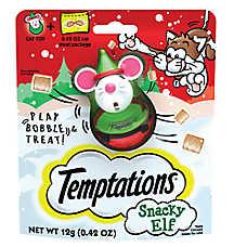WHISKAS® TEMPTATIONS® Snacky Elf Cat Treat & Toy
