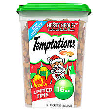 Tempations™ Merry Medley Cat Treat - Chicken & Seafood