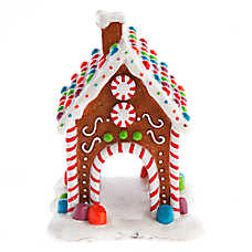 Top Fin® Pet Holiday Gingerbread House Aquarium Ornament