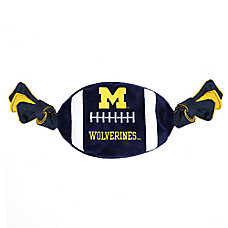 Michigan Wolverines NCAA Flattie Crinkle Football Toy