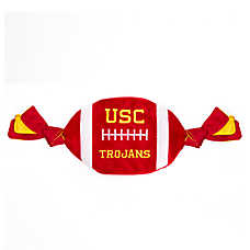 University of Southern California Trojans NCAA Flattie Crinkle Football Dog Toy