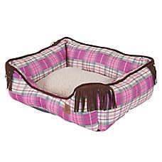 MuttNation Plaid Lounger Dog Bed