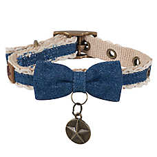 MuttNation Denim & Lace Dog Collar