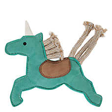 MuttNation Faux Suede Unicorn Dog Toy