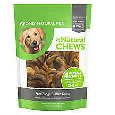Only Natural Pet All Natural Chews Free Range Buffalo Knots Dog Treat