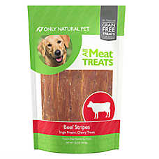 Only Natural Pet All Meat Treats Dog Treat - Beef Stripes