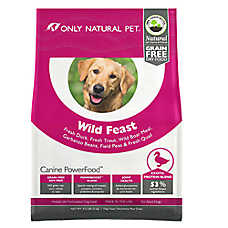 Only Natural Pet Canine PowerFood Wild Feast Dog Food- Limited Ingredient, Natural, Grain Free