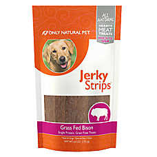 Only Natural Pet Jerky Strips Dog Treat - Natural, Grain Free, Bison
