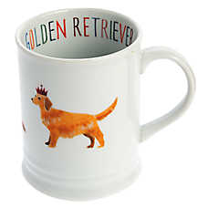 Fringe Golden Retriever Ceramic Dog Mug