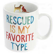 "Fringe ""Rescued"" Ceramic Dog Mug"