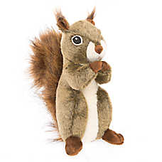 Toys R Us Realistic Squirrel Plush Dog Toy Size Small