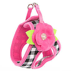Top Paw® Gingham Flower Dog Harness